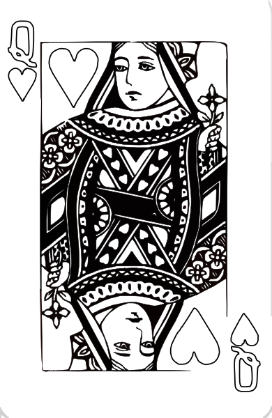 clip art free stock Queen Of Hearts Coloring Page Clip Art at Clker