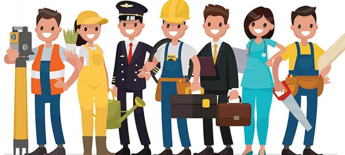 vector free download Career person . Careers clipart.
