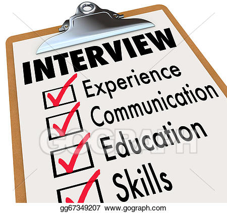 image royalty free download Stock illustration interview checklist. Careers clipart job requirement