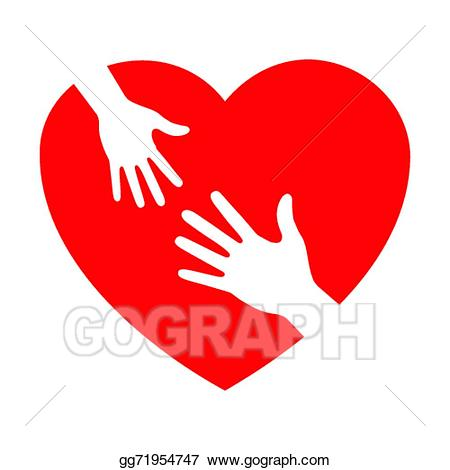 png library library Vector heart icon with. Caring clipart.