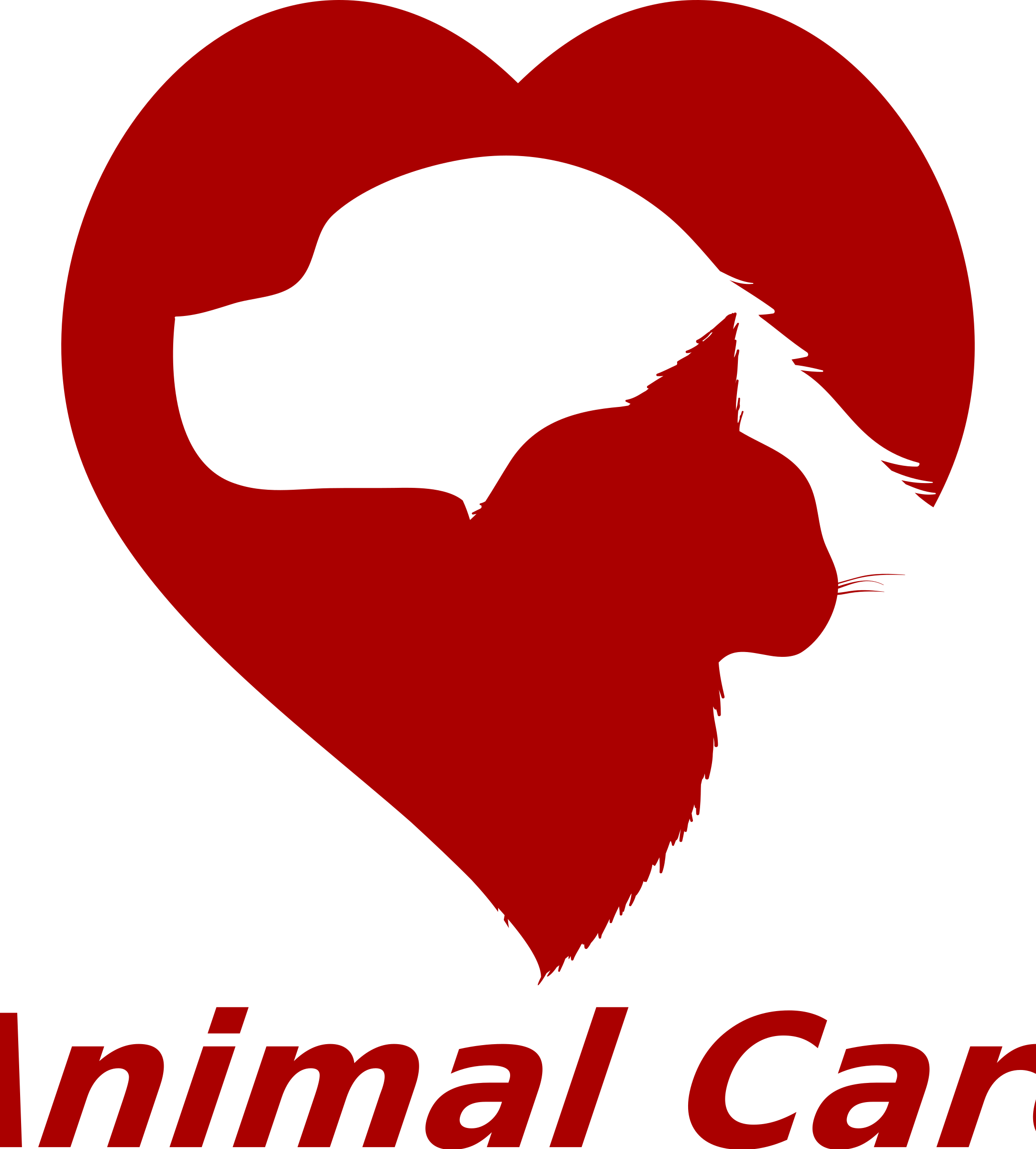 png black and white Caring clipart. Animal care big image.