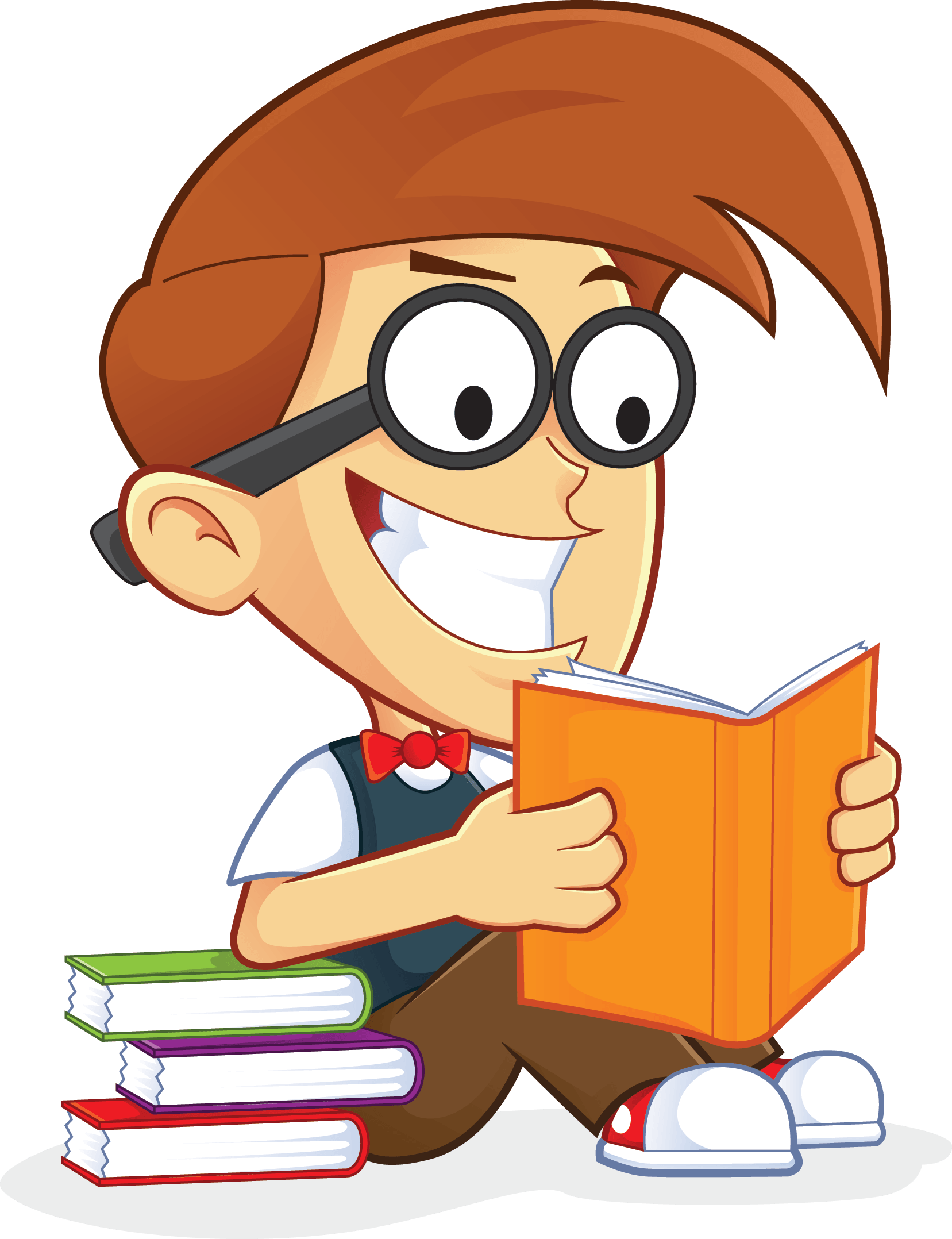 clip freeuse download Vector baby reading. Free nerd geek book