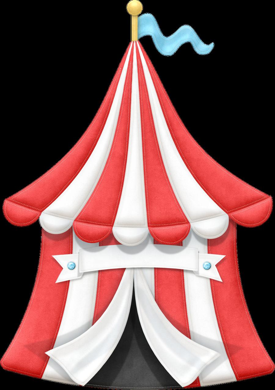 vector transparent library Tent clip art circo. Carnival clipart