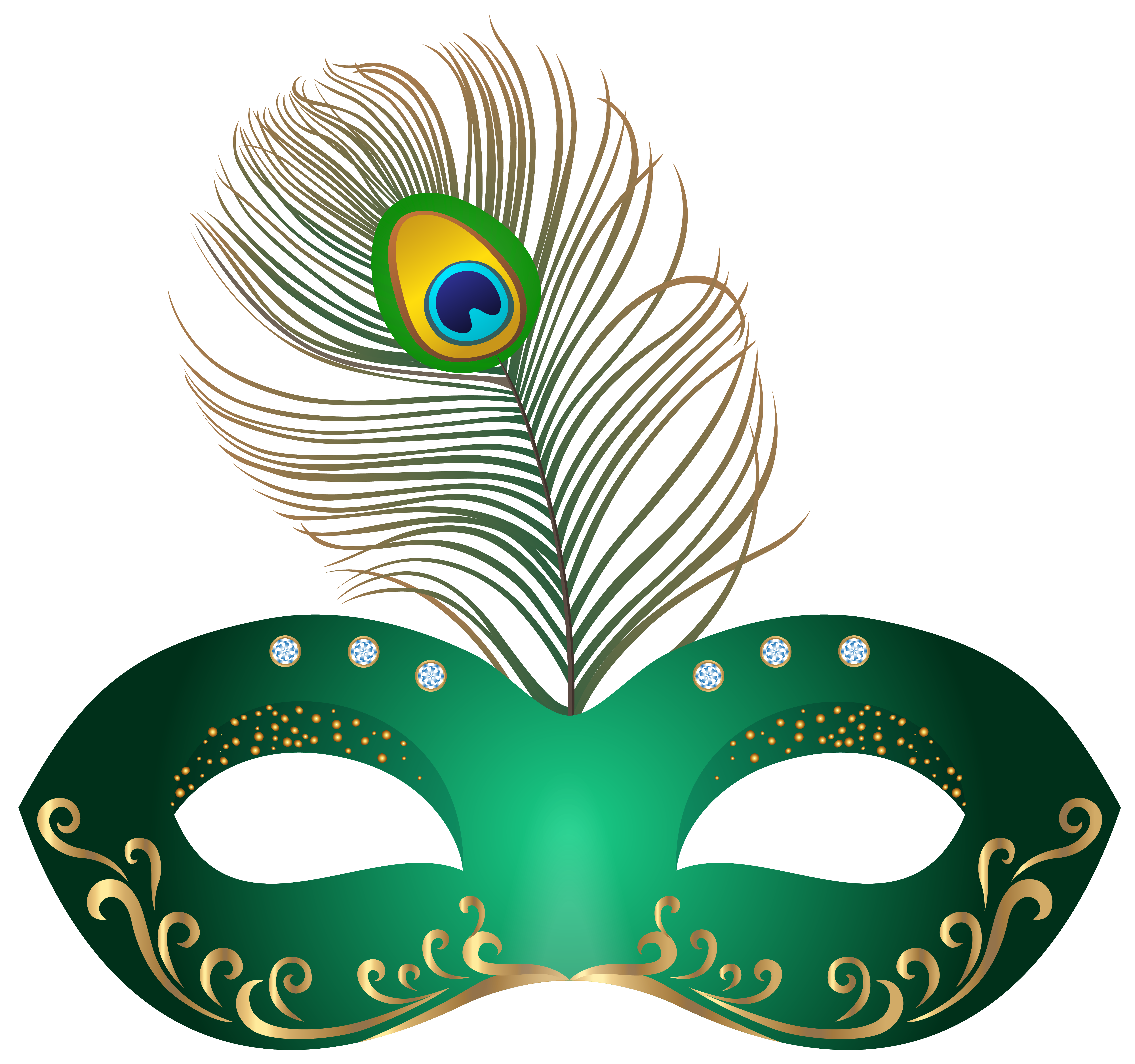 banner transparent Green mask png clip. Carnival clipart.