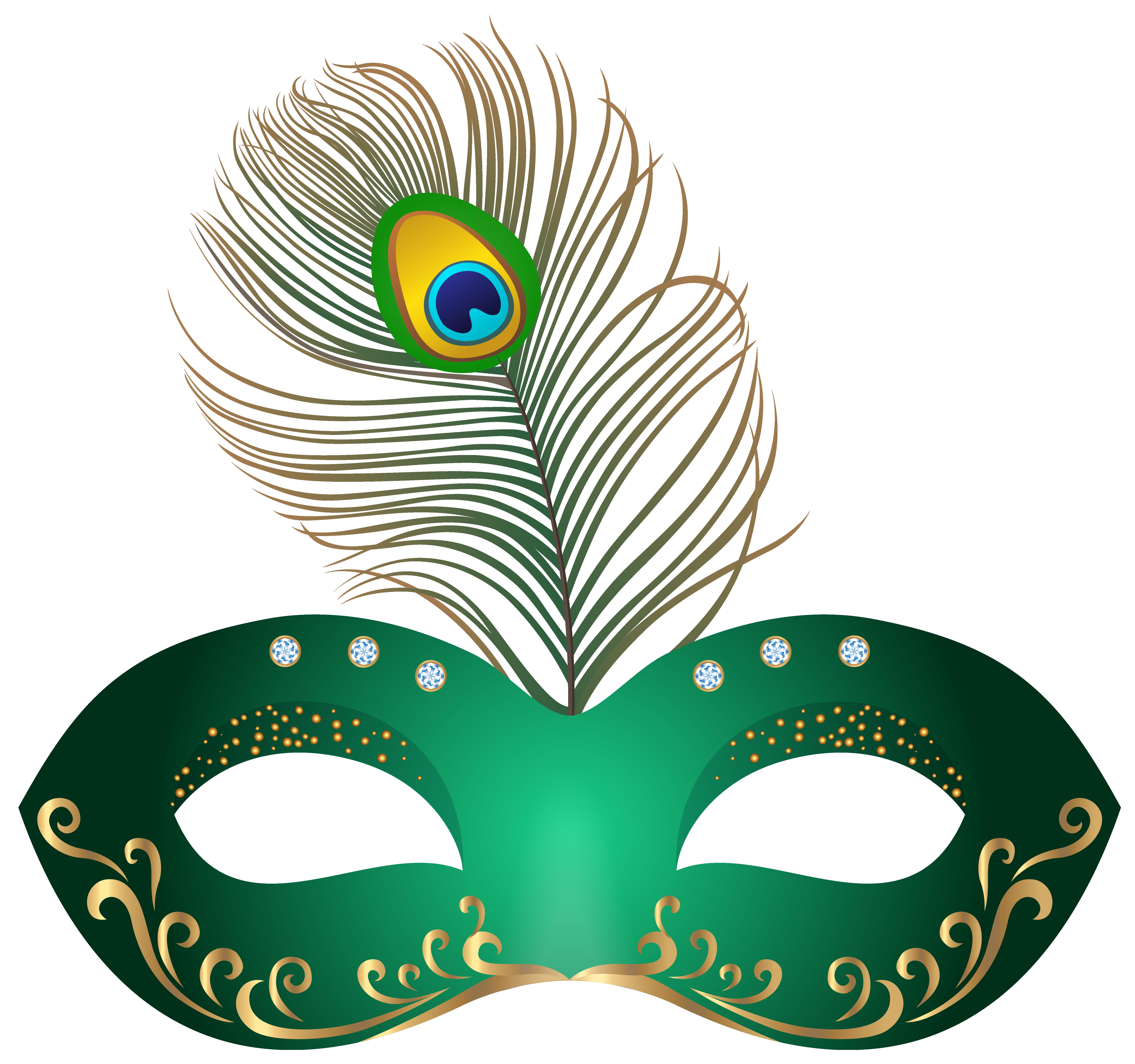 banner transparent Green mask png clip. Carnival clipart