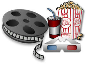 image black and white download Carnival clipart family bonding. Movie theater items clip.