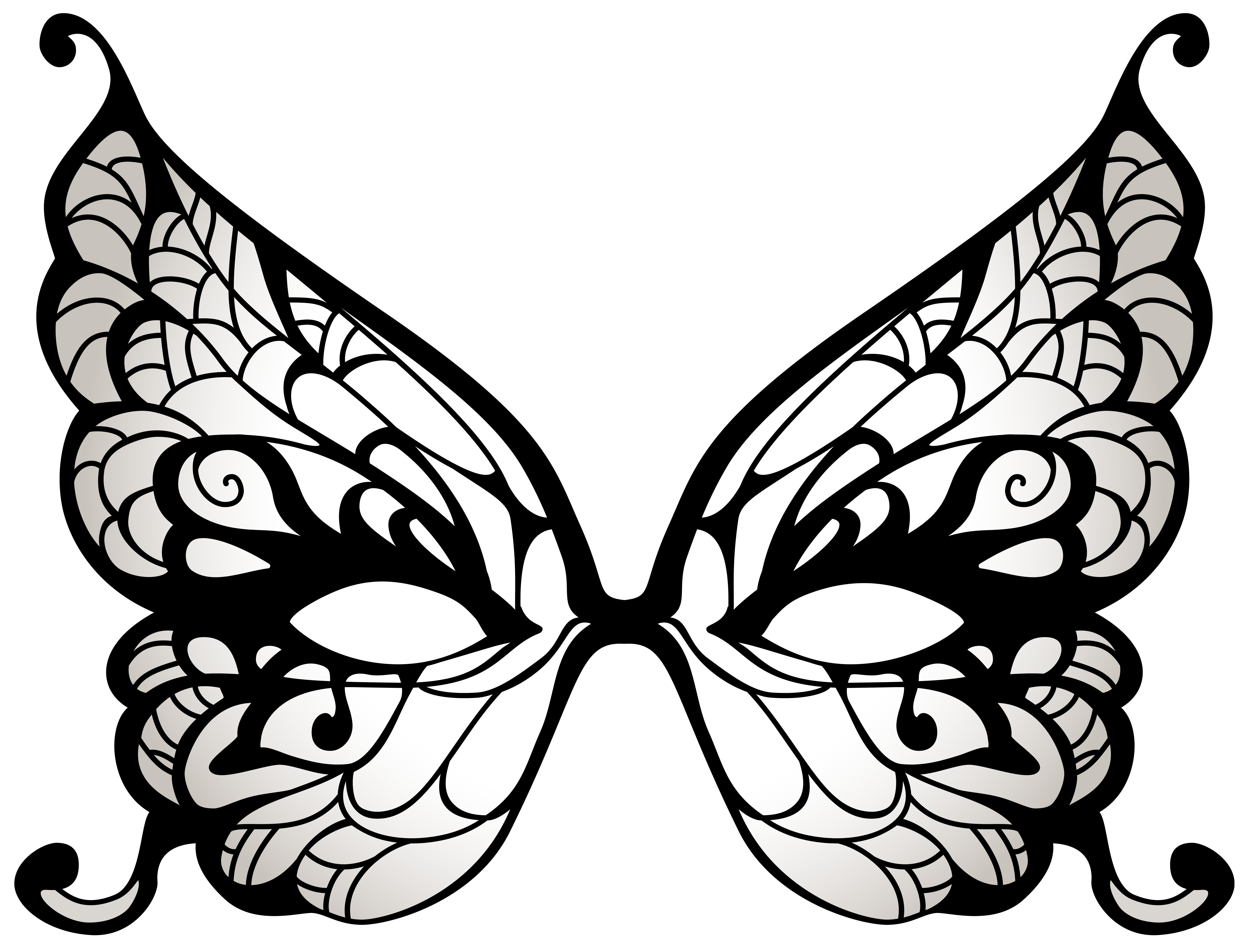 picture black and white download Butterfly mask png clip. Carnival clipart black and white