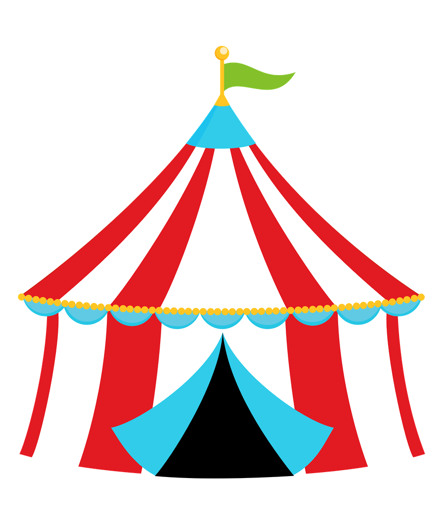 clipart transparent  collection of carnival. Fair tent clipart