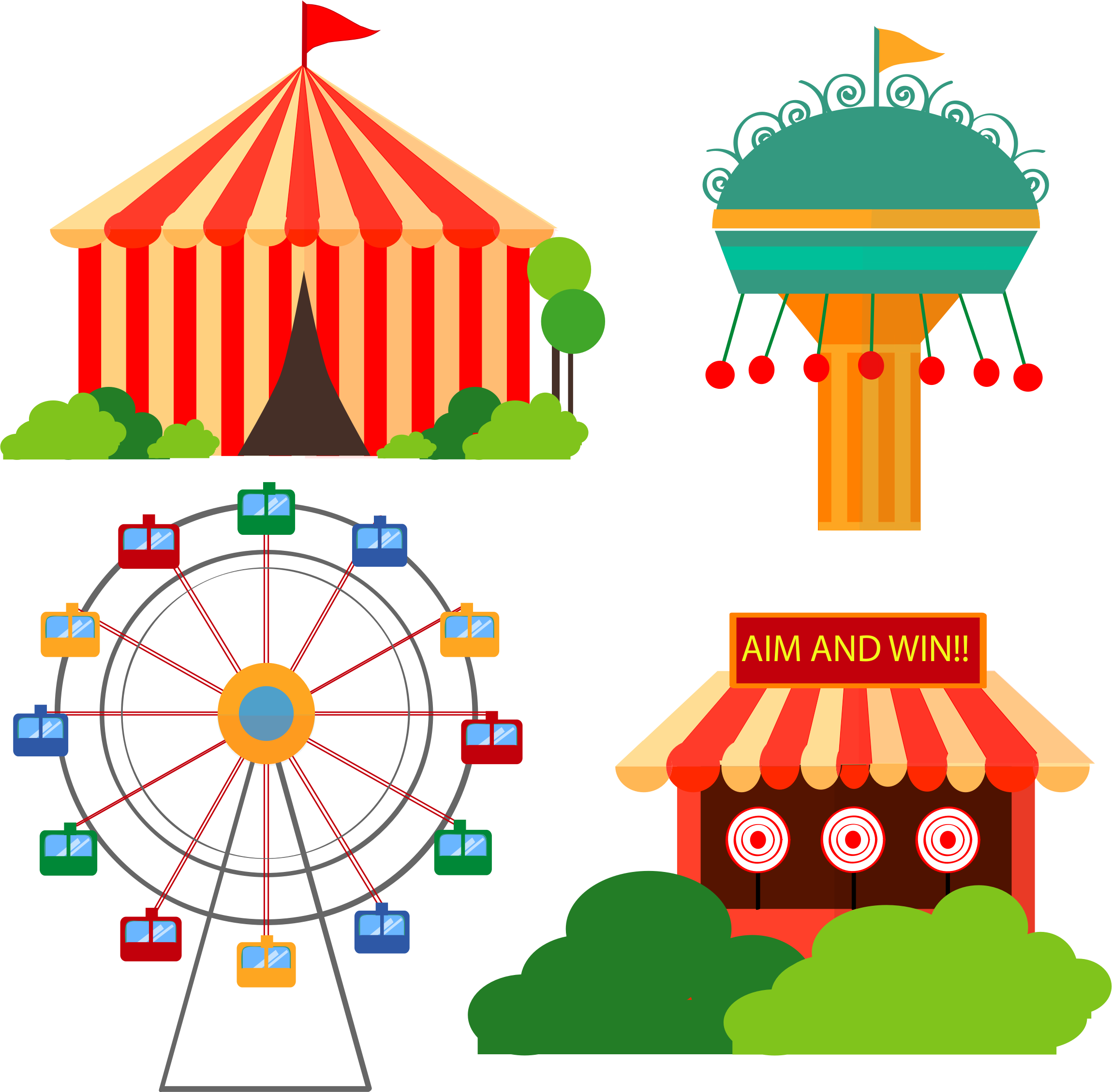 graphic free download Time by barbie a. Carousel clipart kids carnival games.