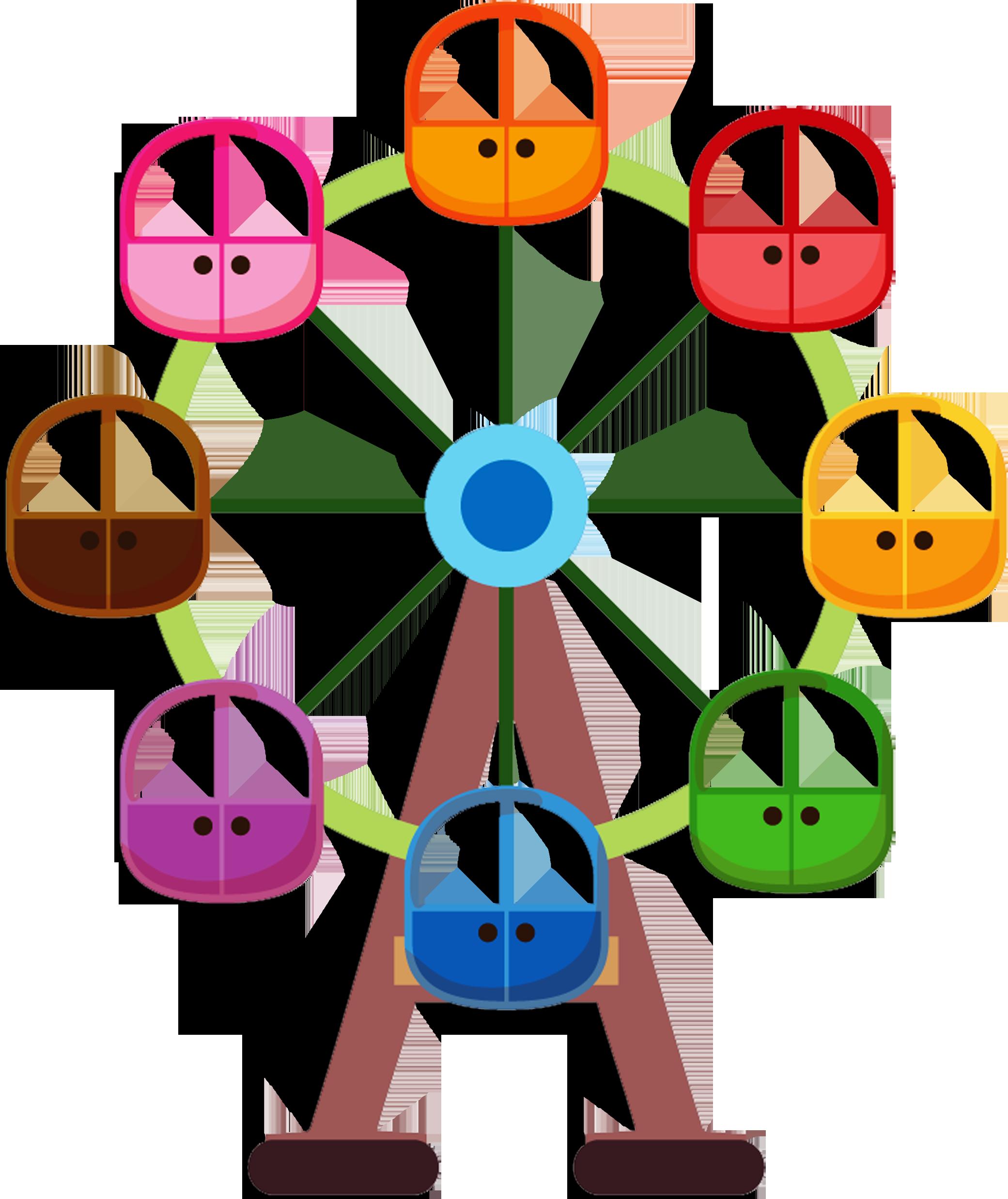vector freeuse download Circo palha o e. Carnival ferris wheel clipart.