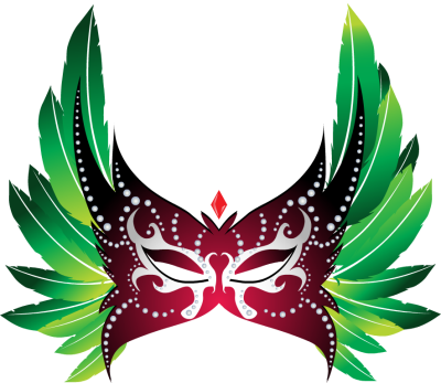png Caribbean clip. Brazilian carnival mask clipart