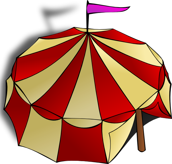 vector transparent library Arcade clipart circus game. Tent clip art at