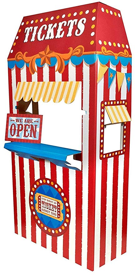 graphic free library Games party supplies decoration. Carnival ticket booth clipart