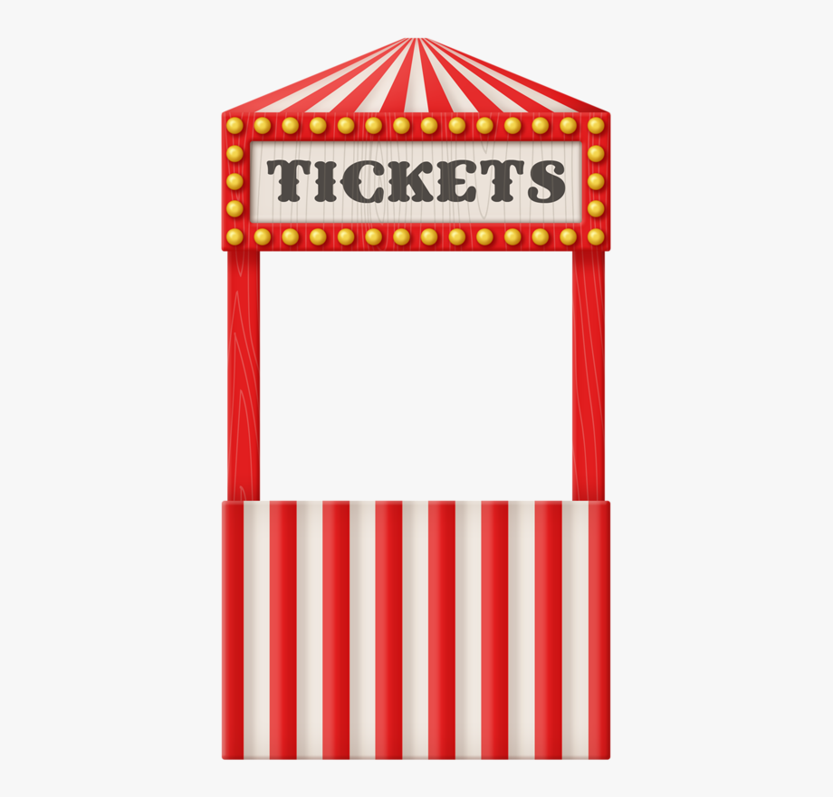 vector black and white  circus free. Carnival ticket booth clipart