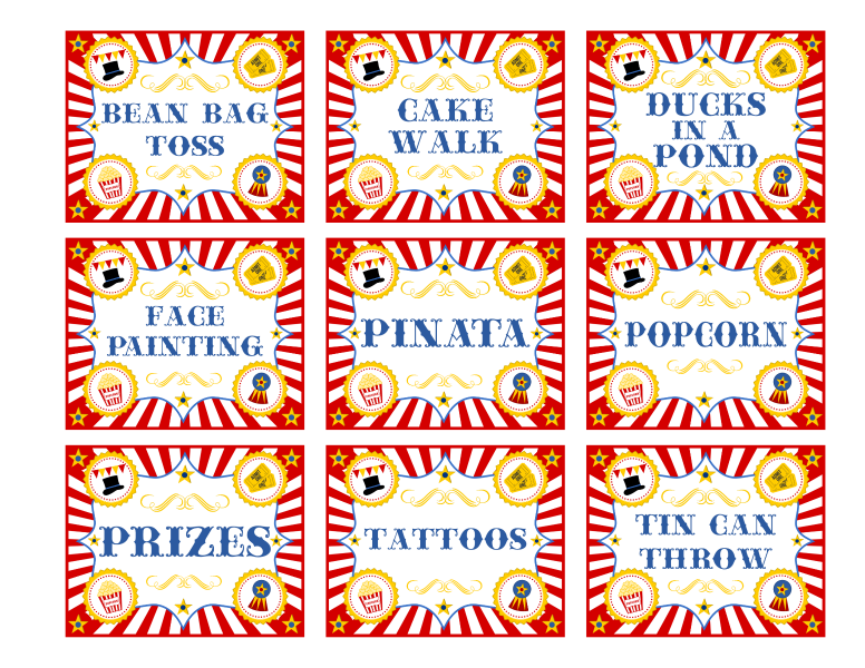 banner freeuse library free printable carnival signs