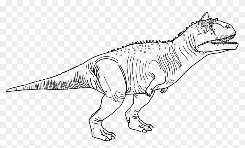 image black and white download Pages luxury jurassic . Carnotaurus Dinosaur Coloring Page
