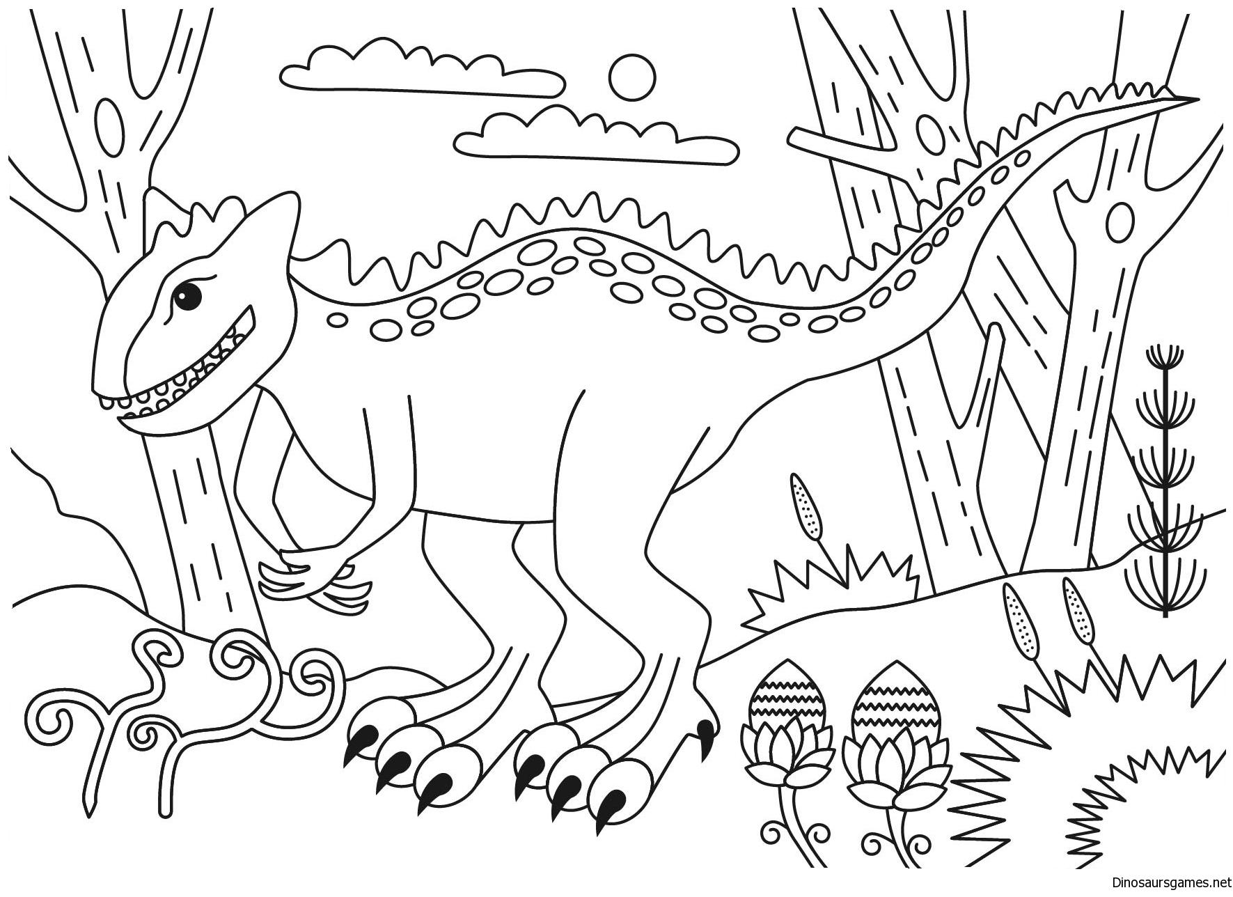 jpg freeuse . Carnotaurus Dinosaur Coloring Page