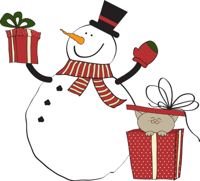 clip free download Great Clip Art of Snowmen and Carolers