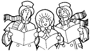 clipart free download Christmas clip art non. Carolers clipart black and white.