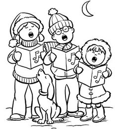 picture transparent Carolers clipart black and white. Free christmas cliparts download.