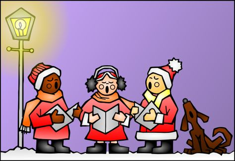 image library library Free animated christmas clip. Carolers clipart indoctrination.