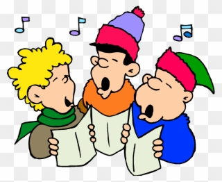 graphic royalty free library Carolers clipart indoctrination. Transparent clip art png.