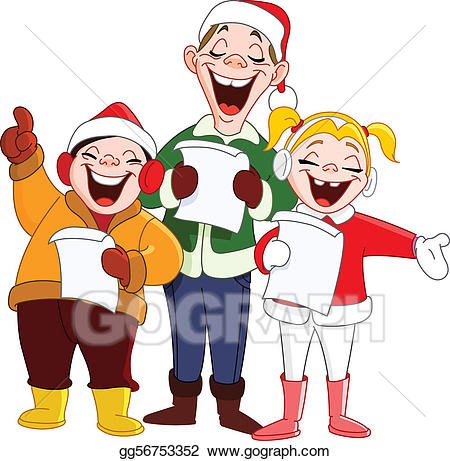 clipart transparent download Carolers clipart santa. Vector illustration christmas stock.