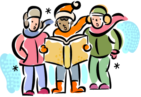 svg free stock Carolers clipart spirit. All church christmas caroling