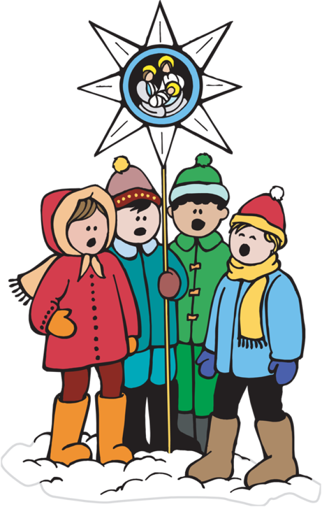 picture freeuse Great clip art of. Carolers clipart village.