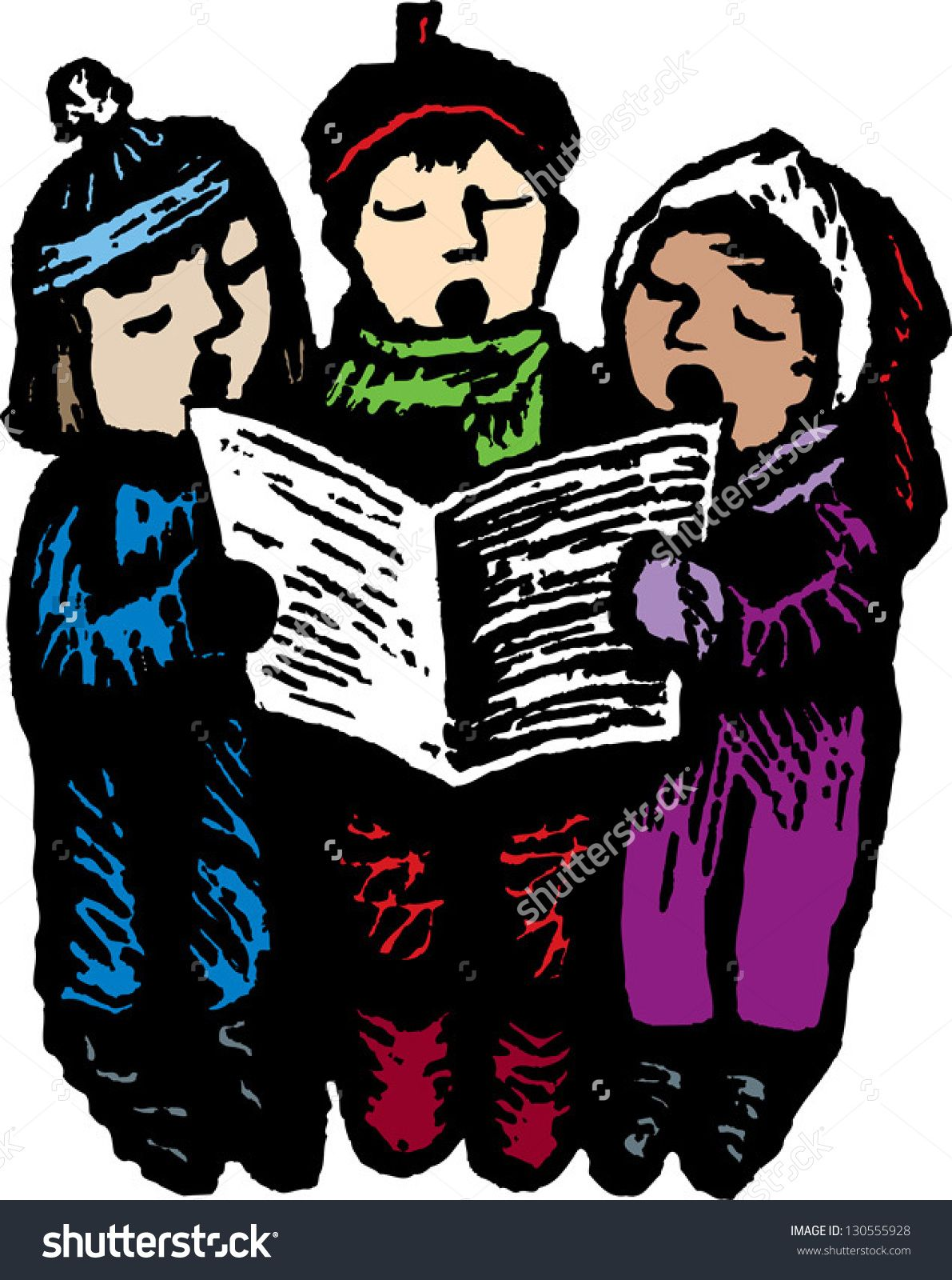 banner Carolers clipart village. Caroling transparent free .