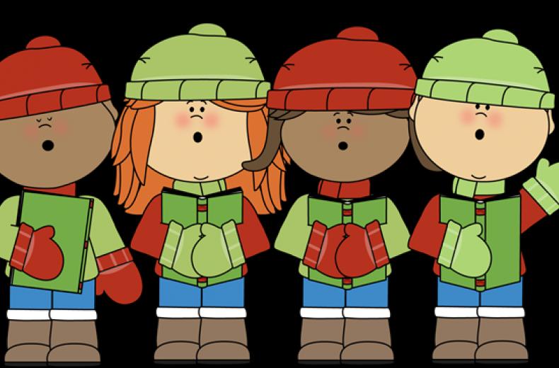 graphic freeuse download Children s carols hexham. Caroling clipart