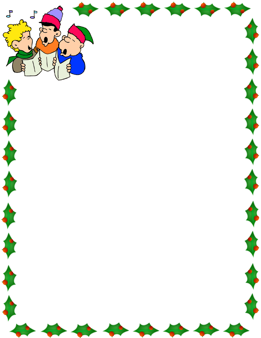 clip download Caroling clipart border. Christmas carolers boarders .
