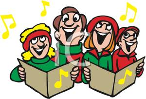 graphic free library Caroling clipart carol singer. Religious transparent .