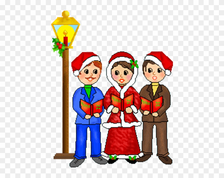 clip art freeuse library Caroling clipart carol singer. Banner stock free christmas.