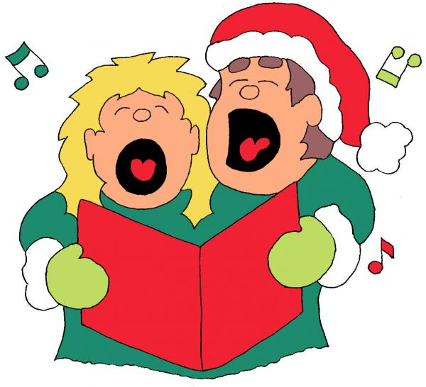vector library Free christmas singers cliparts. Caroling clipart carol singer.