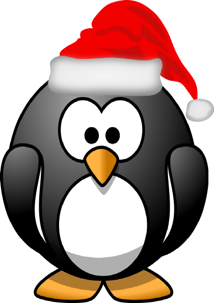 graphic freeuse download Christmas Penguin Clipart Black And White