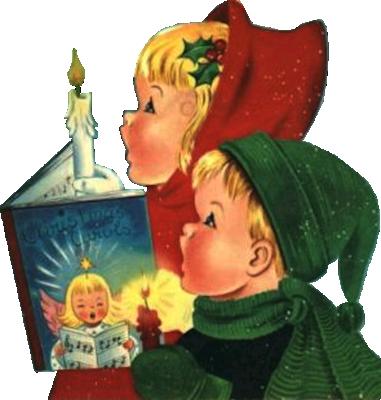 vector royalty free stock Fete noel belles images. Caroling clipart preschool.