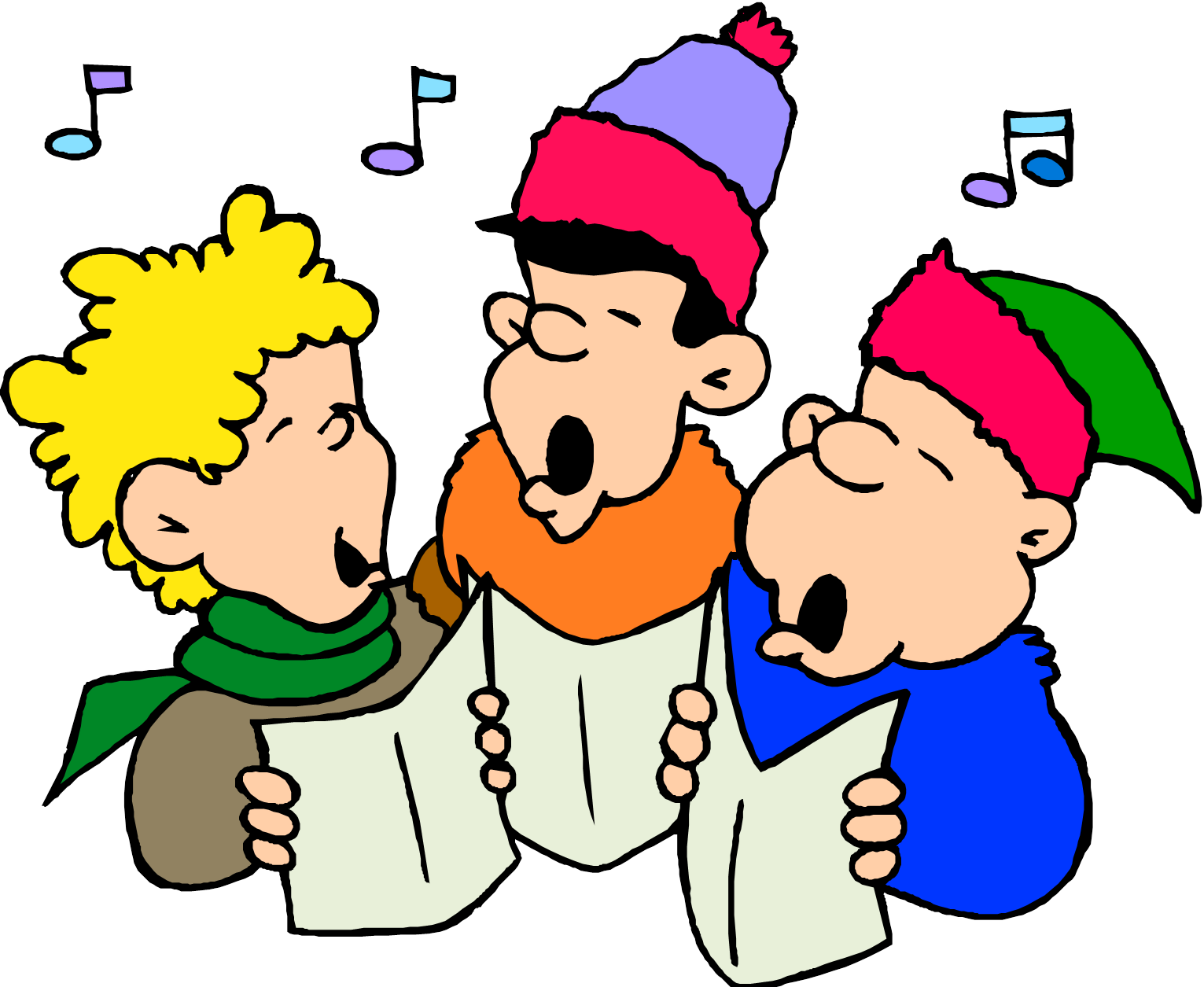 png royalty free library News announcements at the. Caroling clipart preschool.