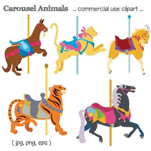 jpg stock Carousel animal clipart. Clip art horse tiger