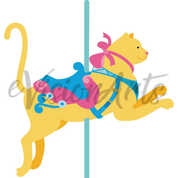 banner black and white Carousel animal clipart. Collection of free download