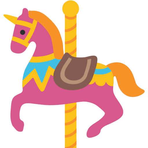 graphic library download Carousel Horse Emoji for Facebook
