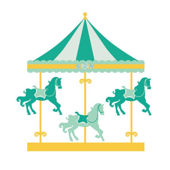 clipart royalty free stock Carousel clipart. Merry go round clip.