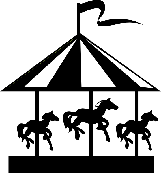 graphic black and white  collection of black. Carousel clipart