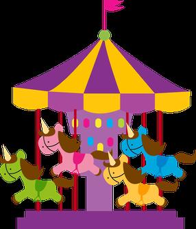 image royalty free Carousel clipart. Parque de divers es.