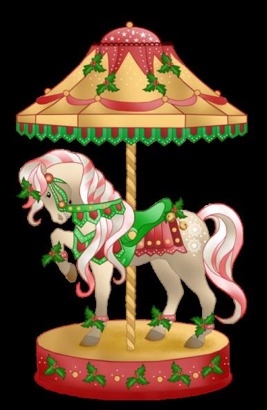 banner freeuse Carousel animal clipart. Christmas horse clip art