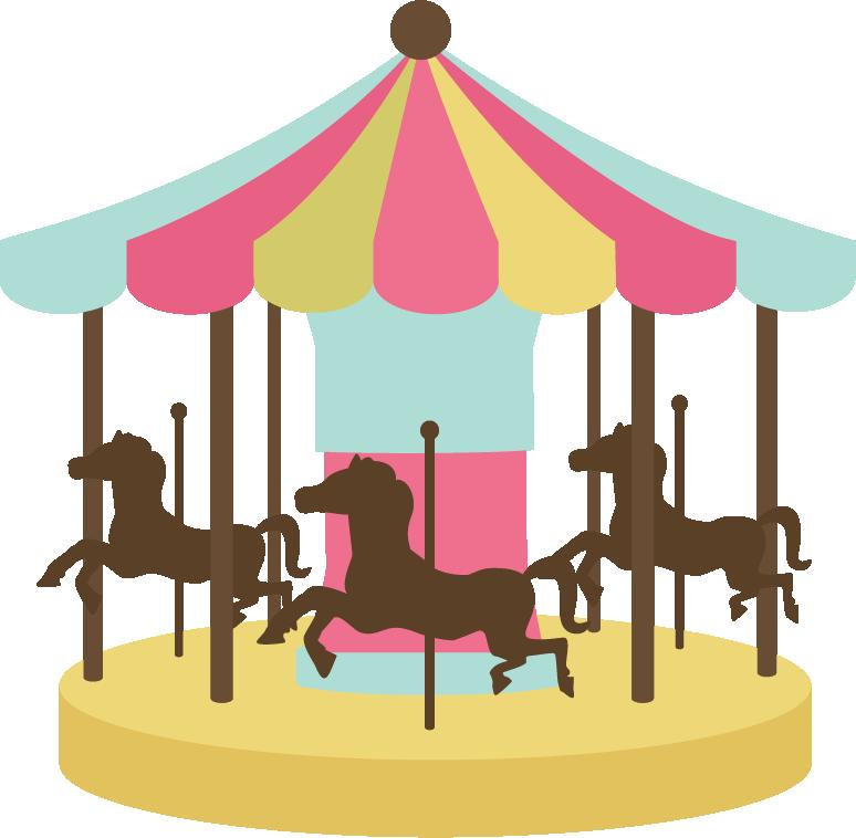 image free library Carousel clipart kids carnival games. Resultado de imagen carrusel