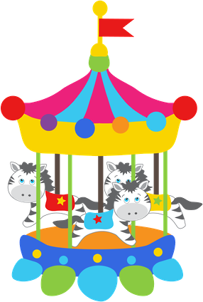 clip download Carousel clipart kids carnival games. Circo minus clown pinterest.