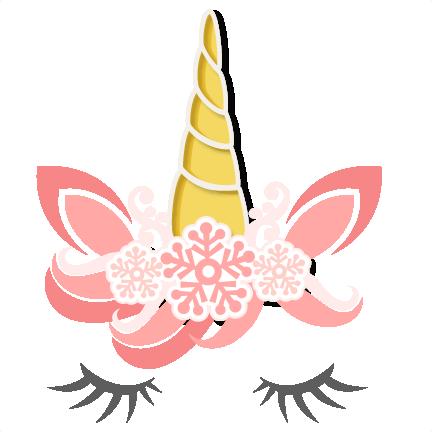 clip art freeuse download Snowflake Unicorn SVG scrapbook cut file cute clipart files for