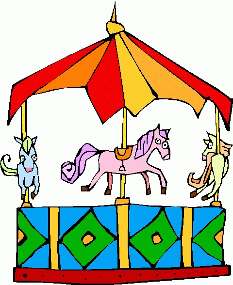 clip royalty free . Carousel ride clipart.