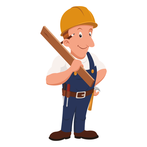 picture freeuse library Carpenter cartoon profession png